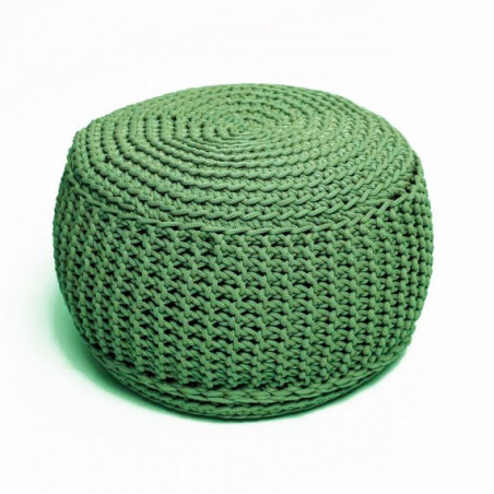 Pufs KNITTED OLIVE