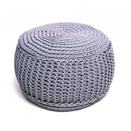Pufs KNITTED GRAY