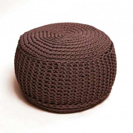 Pufs KNITTED CHOCOLATE