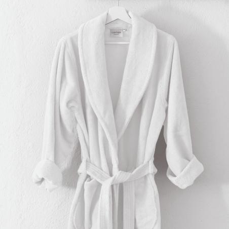 Kokvilnas halāts SOFT WHITE