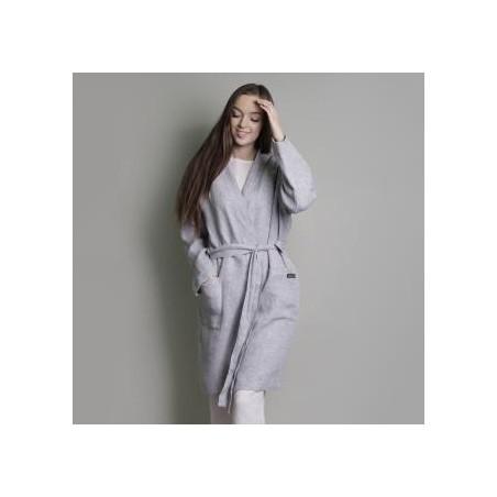 Sieviešu halāts GREY WAFFLE